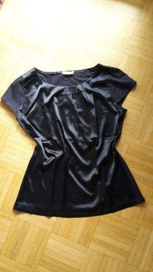 Nachtblaues Shirt aus Satin