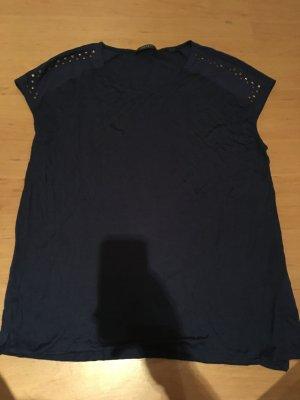 Nachtblaues Shirt mit Nieten