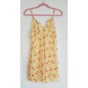 Nachthemd Negligee Unterkleid mit Kirschen gr S