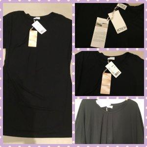 Négligé noir tissu mixte