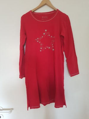 Nachthemd, rot, mit Sternenmuster