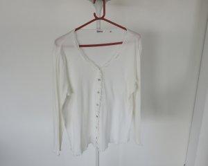 Nachthemdjacke, fein gerippt mit Spitze, Größe XL, neu