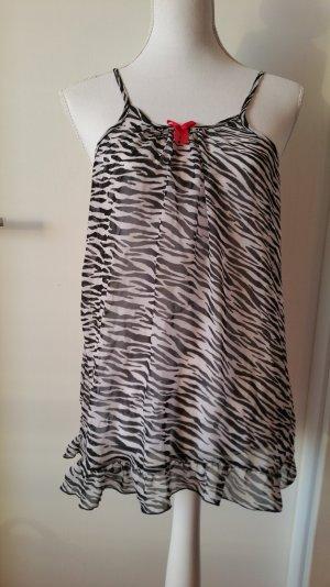 Nachtkleid mit Zebramuster transparent