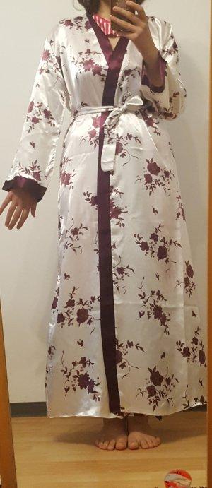 Kimono bianco-viola scuro
