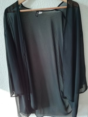 H&M Divided Nachtjapon zwart Polyester