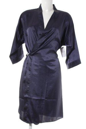Night Coat steel blue simple style
