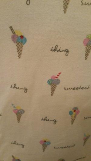 Nachtshirt - Nachthemd -  Longshirt  mit Eistüten von H&M  - Grösse Small