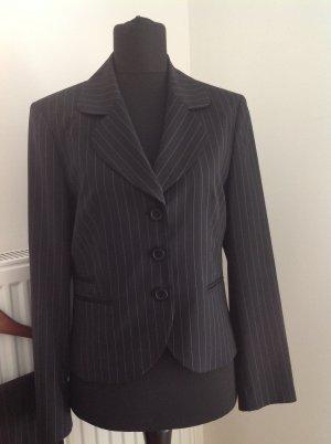 St. emile Pinstripe Suit black-white