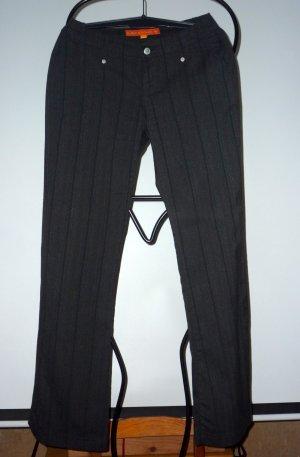 Fishbone Pantalon de costume gris anthracite-rouge foncé tissu mixte