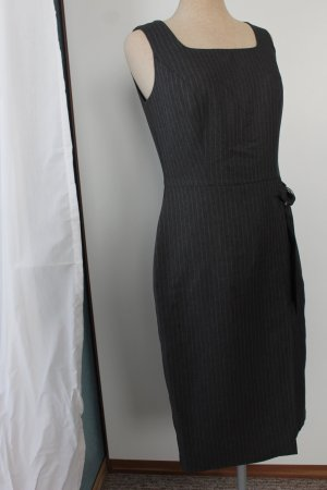 Nadelstreifen Büro Kleid grau Etuikleid BHS Debenhams Gr 36 S business pinstripe