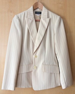 Elements Pinstripe Suit oatmeal-cream polyester