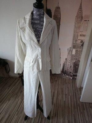 Pinstripe Suit black-cream