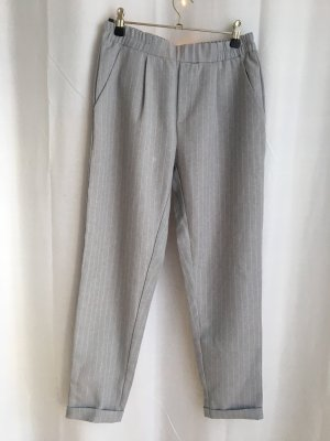 Pantalón de pinza alto blanco-gris claro
