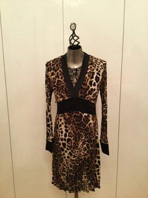 NADIN Made in Italy Leo Print Kleid Gr. L — NEU ohne Etikett