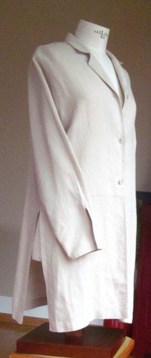 Nadine H. Hemdblusenkleid aus reinem Leinen - sandfarben
