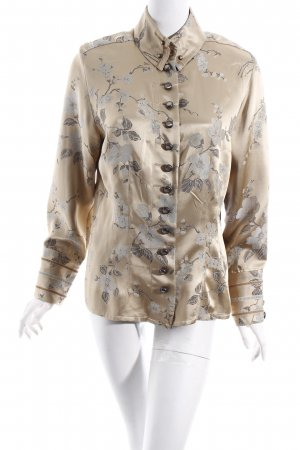 Nadine H. Kimono-Bluse beige-taupe florales Muster extravaganter Stil