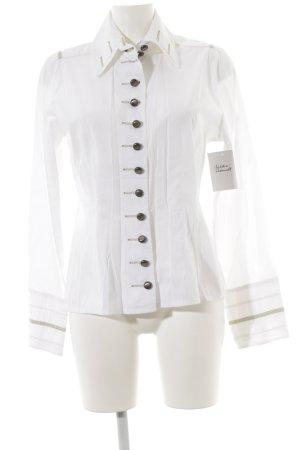 Nadine H. Langarm-Bluse weiß-creme extravaganter Stil