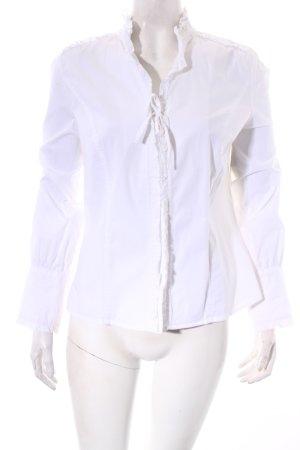Nadine H. Langarm-Bluse weiß klassischer Stil