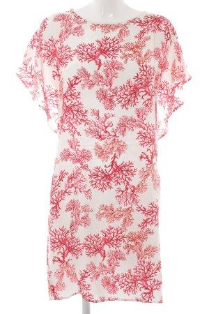Nadine H. Vestido estilo camisa blanco-rosa estampado floral elegante