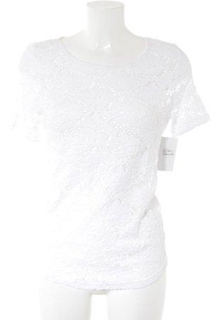 Nadine H. T-Shirt weiß Romantik-Look