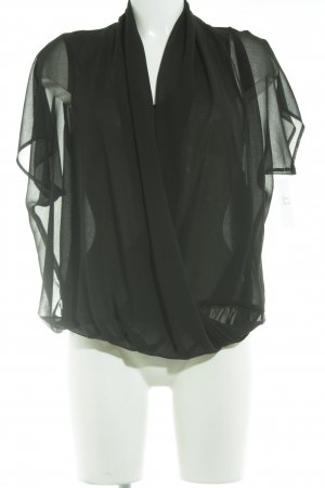 Nadine H. Blusa transparente negro elegante