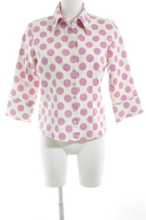 Nadine H. Übergangsjacke weiß-pink Punktemuster Rockabilly-Look