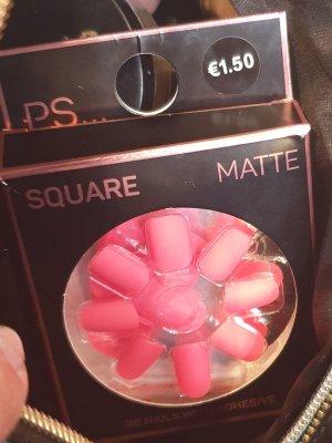 Collier avec nom rose clair-rose fluo