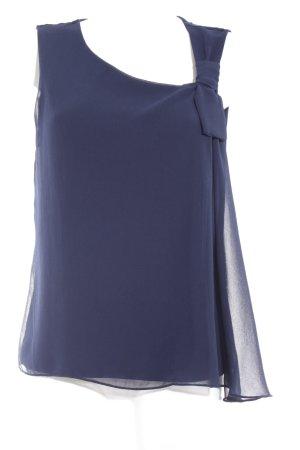 Naf naf ärmellose Bluse dunkelblau Elegant