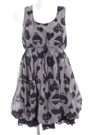 Naf naf vestido de globo marrón grisáceo-negro Herzmuster estilo fiesta