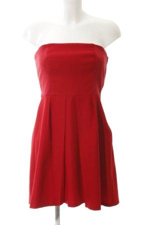 Naf naf Vestido bustier rojo look casual