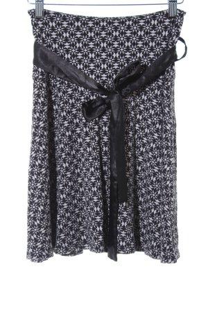 Naf naf Jupe évasée noir-gris clair motif abstrait style décontracté