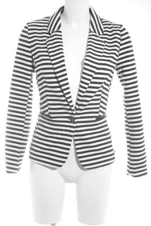Naf naf Jerseyblazer schwarz-weiß Streifenmuster Casual-Look