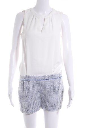 Naf naf Combinaison blanc-bleu style décontracté