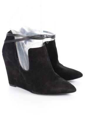 Naf naf Keil-Stiefeletten schwarz Casual-Look
