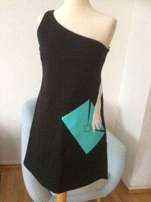 NAF NAF Kleid schwarz mit Print neu Größe 42