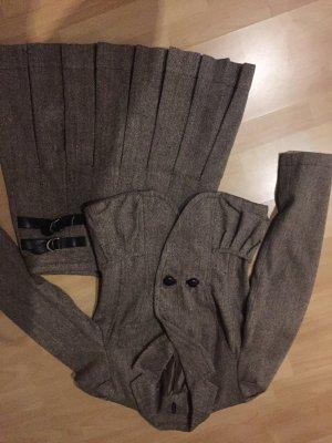 Naf Naf Kostüm Rock+Blazer Wollmaterial Größe 36