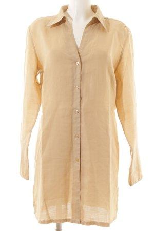 Naf naf Camisa de manga larga camel estilo clásico