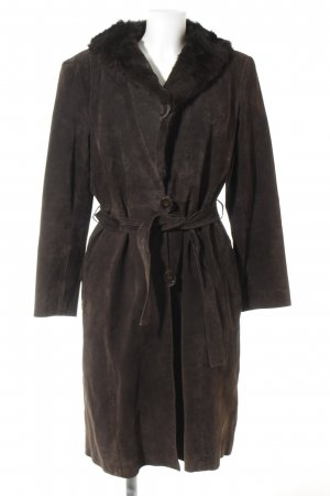 Naf naf Leather Coat black brown vintage look