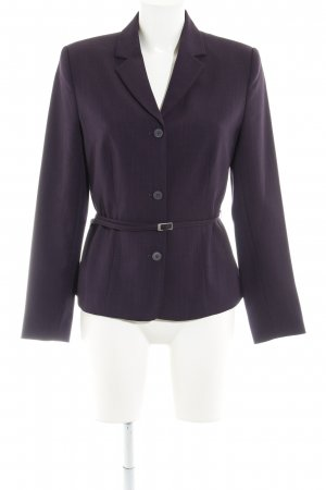 Naf naf Long-Blazer dunkelviolett Business-Look