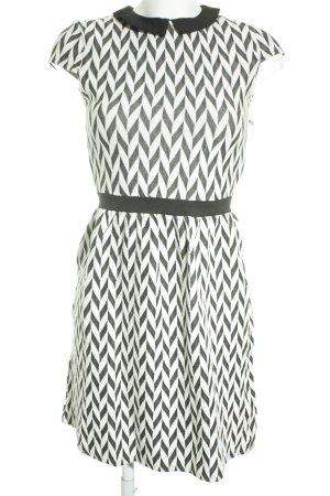 Naf naf Minikleid schwarz-weiß Zackenmuster schlichter Stil