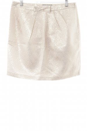 Naf naf Miniskirt gold-colored floral pattern elegant