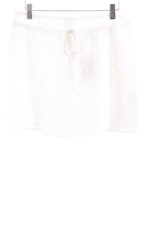 Naf naf Mini-jupe beige clair-crème style classique
