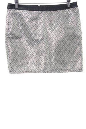 Naf naf Minirock Zackenmuster Metallic-Optik