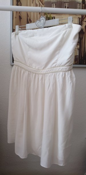 NAF NAF: Pretty White Summer  Dress, 42 trägerlos