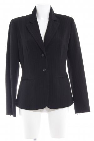 Naf naf Smoking-Blazer schwarz Streifenmuster Business-Look