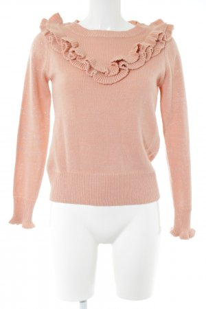 Naf naf Strickpullover pink Allover-Druck Casual-Look