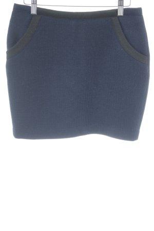 Naf naf Jupe tricotée bleu foncé-noir style simple