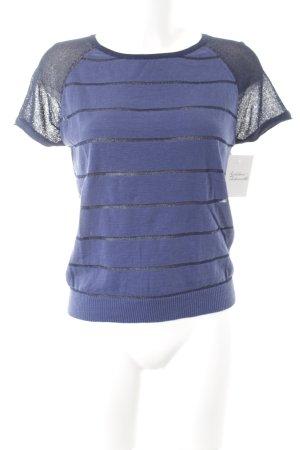 Naf naf Strickshirt dunkelblau-stahlblau Streifenmuster Casual-Look