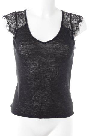Naf naf T-Shirt schwarz Casual-Look