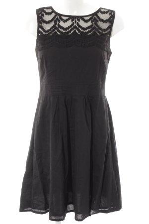 Naf naf Pinafore dress black abstract pattern elegant